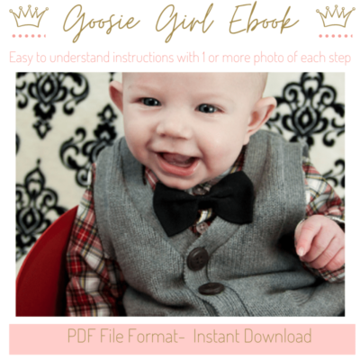 Bow Tie Pattern - No Sew Bowtie eBook Tutorial -PDF