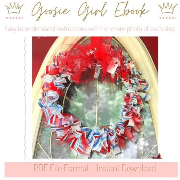 Raggie Bow Wreath- No Sew wreaths eBook Tutorial